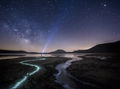 Milky Way, night, Quabbin, Massachusetts, Patric Zephyr, Blue, stars, wanderlust, stream, New Salem