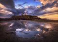 nubble lighthouse, nubble light, york, Maine, ocean, reflection, lighthouse, sunrise, patrick zephyr