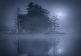 Night at Harvard Pond print