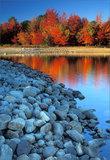 Blue Rocks on Fire print