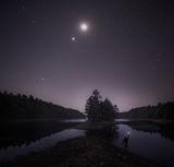 Venus and the Moon print