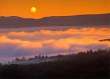 quabbin reservoir, massachusetts, sunrise