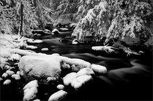 Amethyst brook, Massachusetts, Amherst, winter