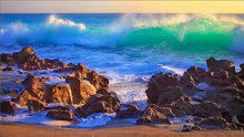 Florida, sunrise, coral cove, ocean, wave, aqua