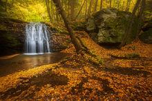 autumn, foliage, massachusetts, waterfall, cascade, patrickzephyr, sunderland, new england