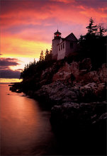 Acadia national park, Maine, bass harbor light, sunset, lighthouse,