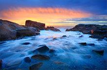 Biddeford pool, Maine, sunrise, ocean, surf