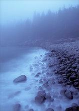Acadia national park, Maine, otter cliffs, rocks, blue