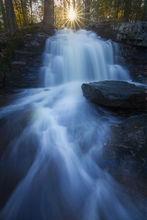 waterfall, massachusetts, pelham, patrickzephyr, cascade, sunrise, blue