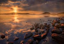 quabbin reservoir, sunrise, new salem, massachusetts, fog, dawn