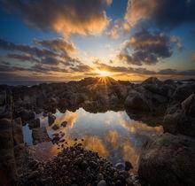 cohasset, Massachusetts, reflection, sunrise, rocks, New England, Patrick Zephyr, ocean