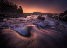 sunrise, stream, dawn, Massachusetts, Quabbin Reservoir, Patrick Zephyr, cascade, long exposure,