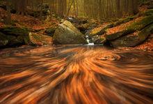 autumn, new england, long exposure, massachusetts, patrick zephyr, leaves, fall, stream, cascade, manual exposure, pelham