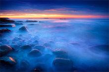 acadia national park, Maine, ocean, surf, rocks, blue