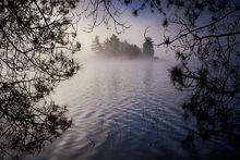 Quabbin Reservoir, Massachusetts, fog, island, morning, Patrick Zephyr