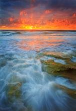 Ocean, surf, Florida, coral cove, sunrise