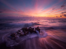 sunrise, dawn, pink, waves, ocean, anastasia limestone, patrick zephyr photography, Florida