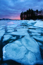 Quabbin reservoir, Massachusetts, ice, winter, sunrise