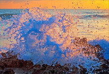 Wave, ocean, Florida, frozen,