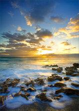 Sunrise, ocean, Florida, coral cove