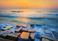 Hampton beach, New Hampshire, sunrise, ocean, surf