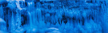 Ice, winter, blue, waterfall, Sunderland, Massachusetts,