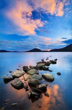 Quabbin Reservoir, sunset, reflection, massachusetts