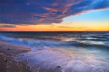 Duck harbor, wellfleet, cape cod, ocean, surf, sunset,