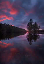 sunrise, quabbin reservior, Massachusetts, dawn, island, magenta, Patrick Zephyr, reflection
