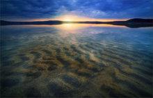 ripples, sand, dawn, sunrise, quabbin reservoir, massachusetts, New Salem, lake, water, reflection, below,