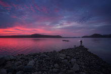 dawn, sunrise, Quabbin Reservoir, lake, Massachusetts, New Salem, Patrick Zephyr