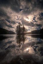 Quabbin Reservoir, Massachusetts, Patrick Zephyr, reflections, island, New England, Photography