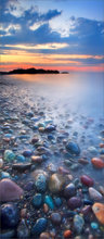 Cohasset, rocks, sunset, Massachusetts,