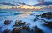 oceanscape, sunrise, waves, surf, florida,
