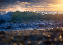 ocean, waves, Florida, Bokeh, dawn, sunrise, Patrick Zephyr