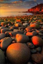 acadia national park, Maine, National Park, otter cliffs, sunrise, dawn, rocks, ocean, golden light