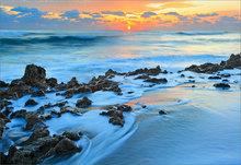 Florida, coral cove, sunrise, surf, ocean,