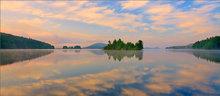 Quabbin reservoir, Massachusetts, islands, reflection, sunrise