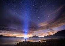 night, stars, quabbin reservoir, massachusetts, patrick zephyr, astrophotography