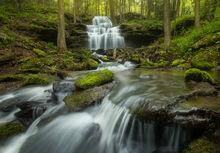 Gunn Brook Falls, Sunderland, Massachusetts, waterfalls, Patrick Zephyr, cascade,
