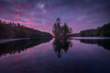 Quabbin Reservoir, Massachusetts, Patrick Zephyr, sunrise, dawn, reflection, island, New England, Photography