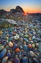 Cohasset, Massachusetts, rocks, sunset, candy