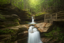 sabaday falls, New Hampshire, White Mountains, Patrick Zephyr, forest, green,