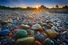 Acadia National Park, Schoodic Peninsula, dawn, rocks, sunrise, Maine