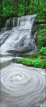 Waterfall, montage, Massachusetts, summer