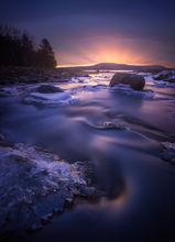 dawn, stream, Quabbin Reservoir, Massachusetts, Landscape Photography, Nature Photography, Patrick Zephyr, long exposure
