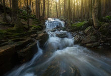 simple things, Keane, Patrick Zephyr, forest, stream, Massachusetts, New England, cascade, waterfall