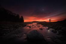 Quabbin Reservoir, Massachusetts, Hopp Brook, stream, night, dawn, venus, sunrise, New Salem