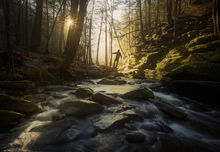 Buffam Falls, Pelham, Massachusetts, patrick zephyr, sunrise, forest, dawn, light, stream