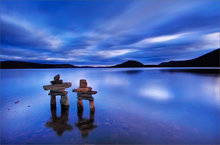 quabbin reservoir, massachusetts, sunset, cairnes, together